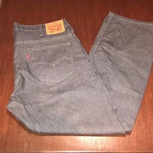 Men's Levi's Gray Denim Jeans 569 Size 40 x 32